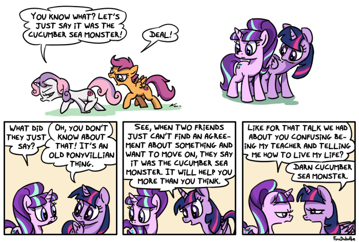Sweetie Belle starlight glimmer twilight sparkle pony point of view comic Scootaloo - 8980463104