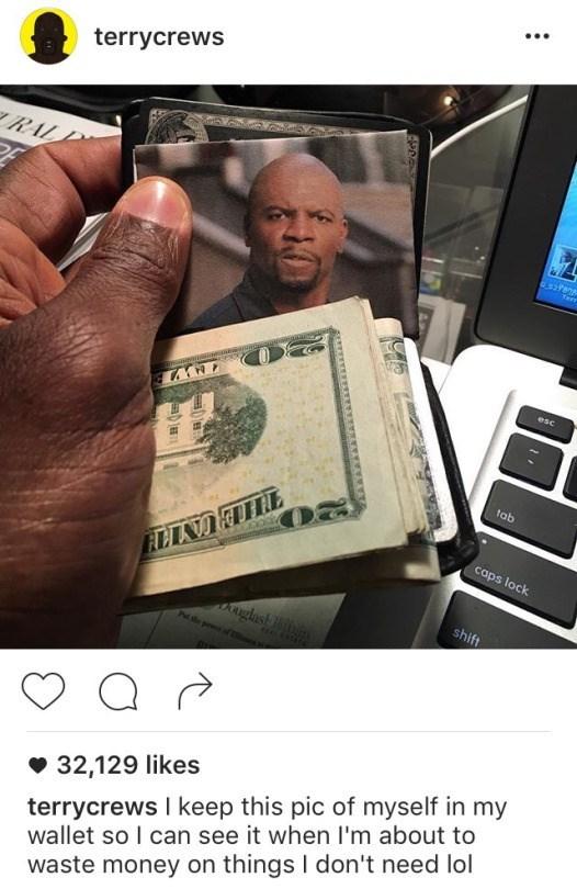 image terry crews money If It Works for Terry Crews....