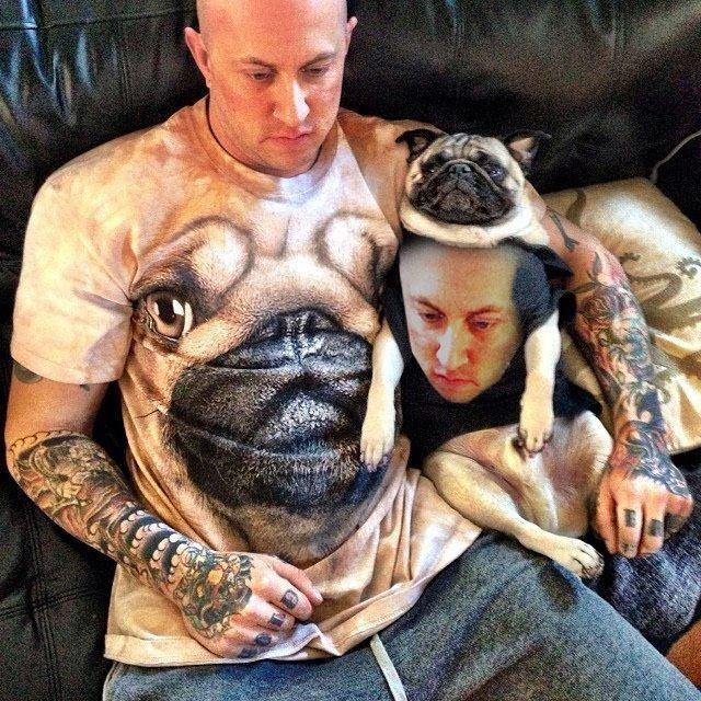 image face swap pug Best Friends Keep Each Other Close