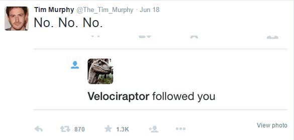 jurrasic park twitter velociraptor NOT AGAIN