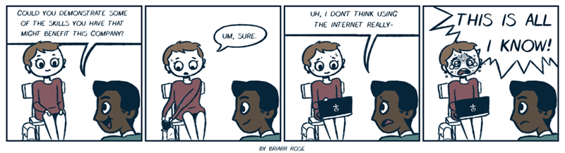 web comics jobs internet My Main Skill Is Making Mean, Anonymous Comments