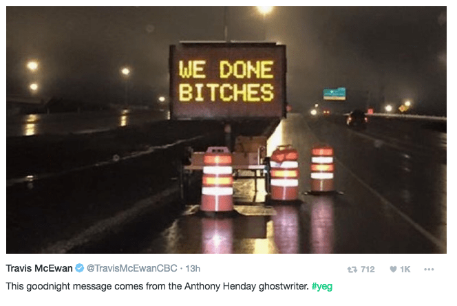 image prank signs Clever Prankster Helps Announce the End of Road Construction