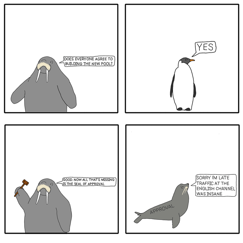 web comics puns marine biology Marine Life Has Government All Figured Out