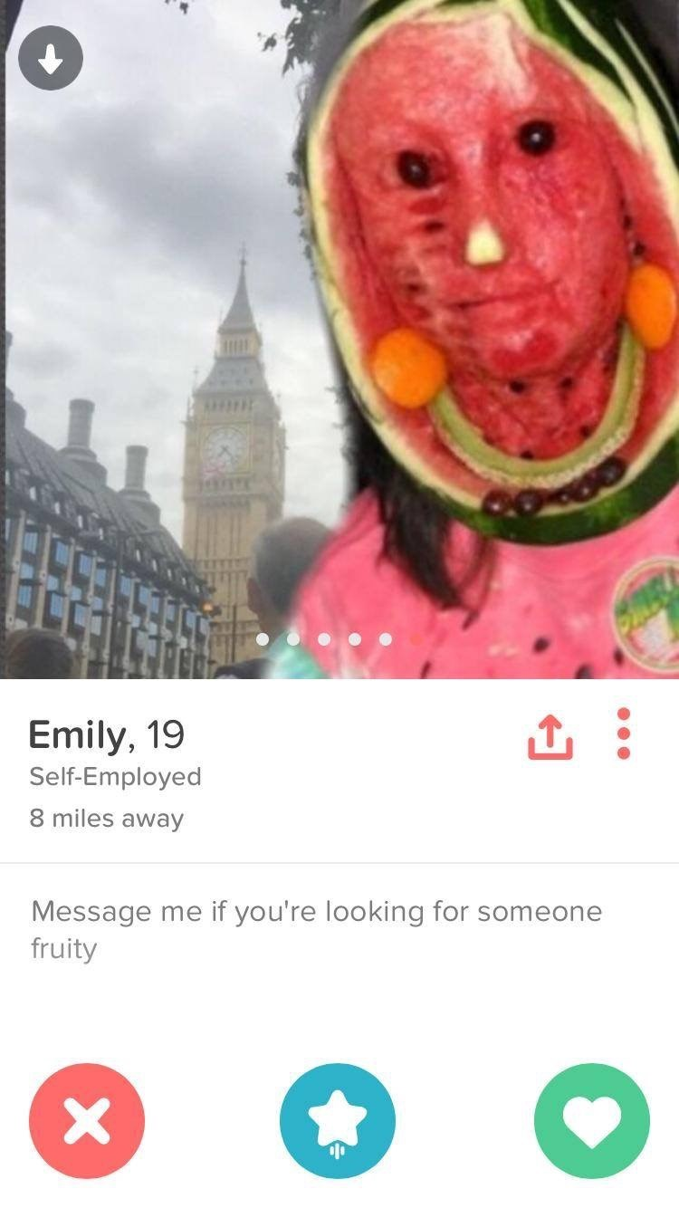 Watermelon - Emily, 19 Self-Employed 8 miles away Message me if you're looking for someone fruity X