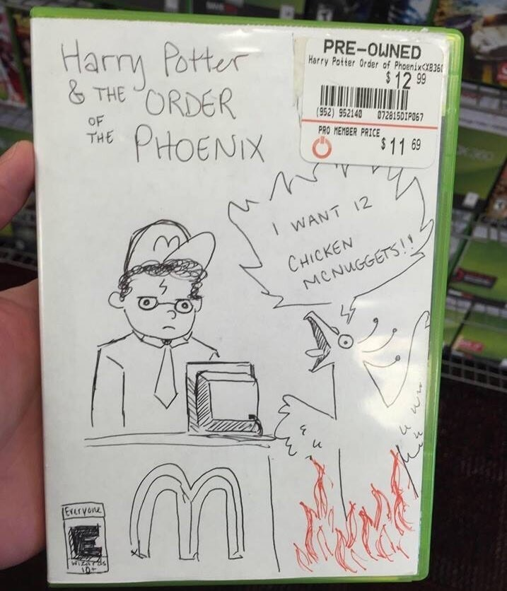 guy-makes-drawing-for-harry-potter-and-the-order-of-the-phoenix-game