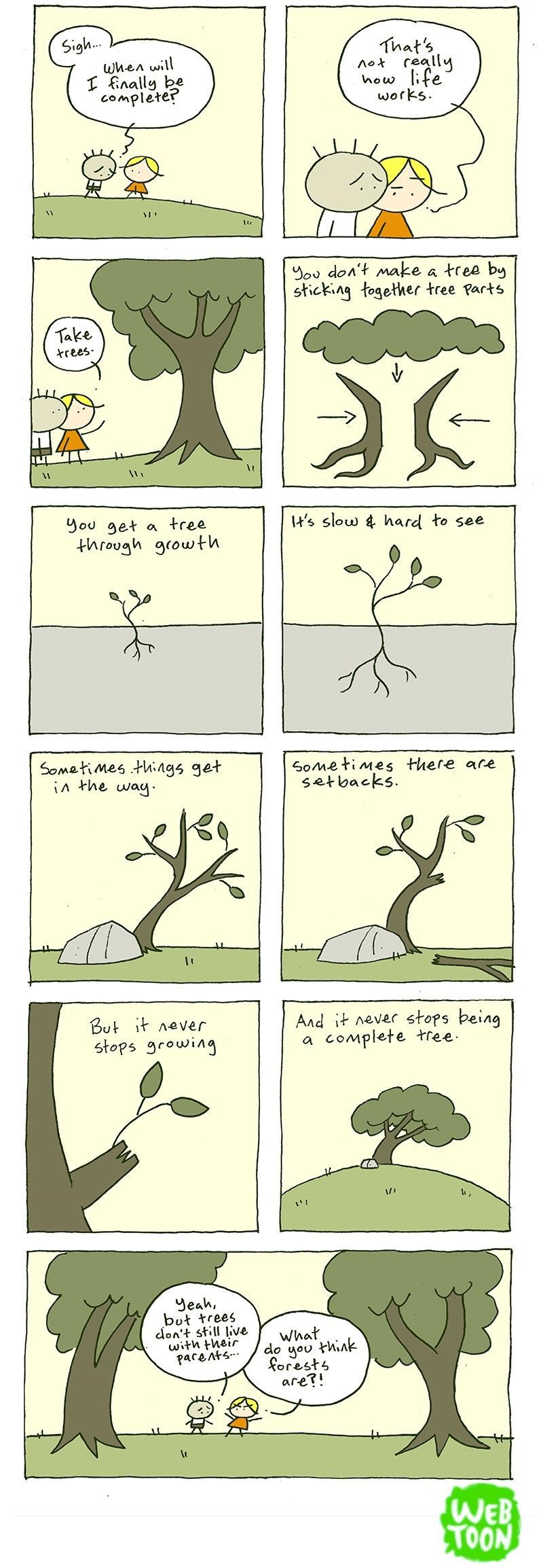web comics trees metaphor Those Poor Trees