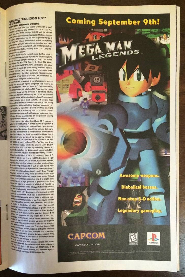 mega man newspaper ad