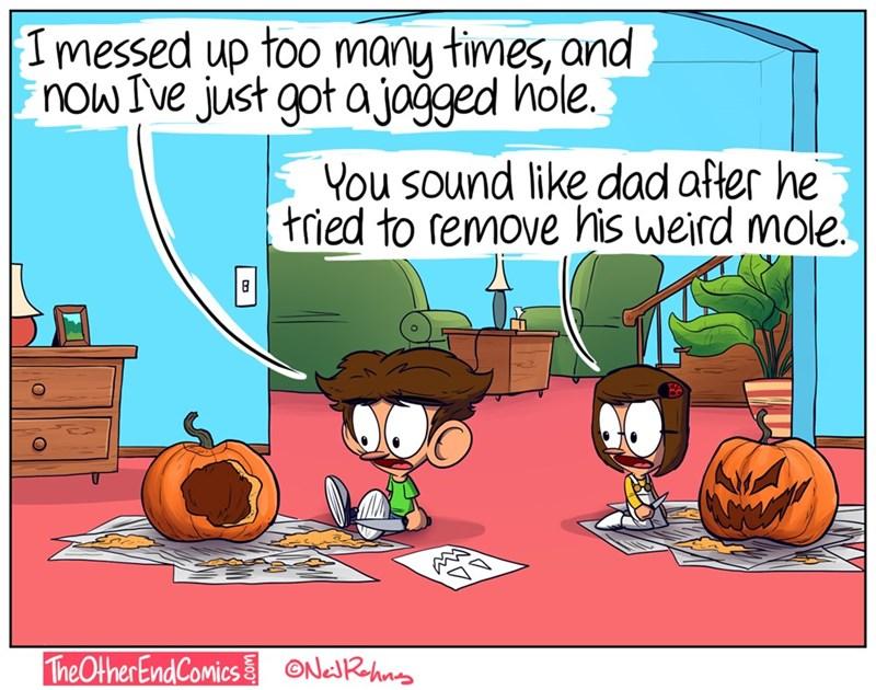 parenting pumpkin carving web comics - 8980996352