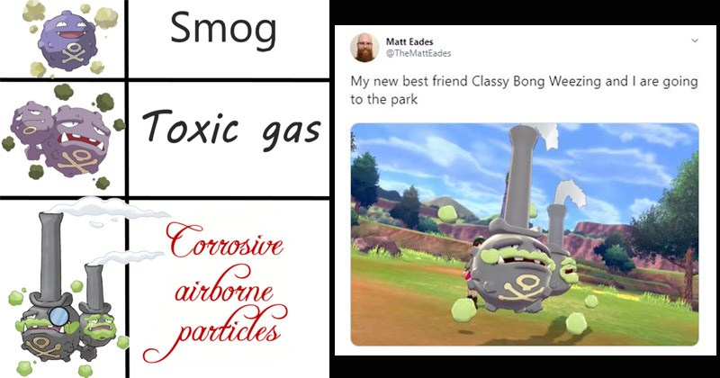 Funny memes about Galarian Weezing