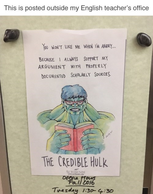 image signs school Bruce Banner Cites His Sources
