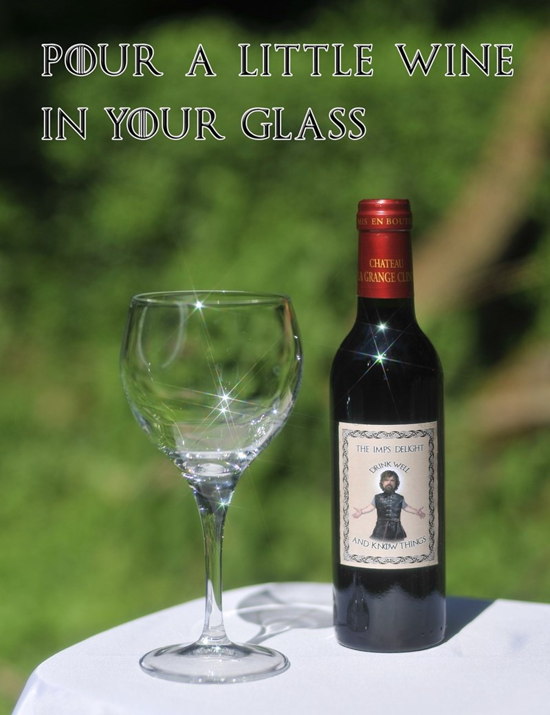 Bottle - POUR A LITTLE WINE IN YOUR GLASS MIS EN BOUT CHATEAU A GRANGE CLIN THE IMPS DELIGHT RINK WELL AND KNDW THING