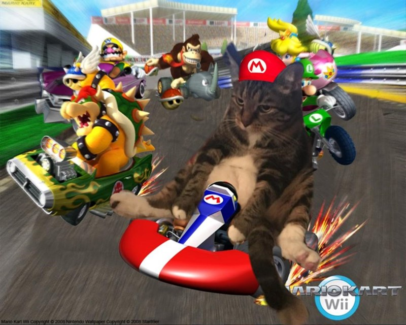Pc game - MARIO KARE APIOK Wii Mano Kart Wi Copyright o 2008 Nintendo Wallpaper Copyright O 2008 Star89er