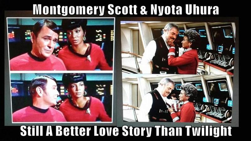 Montgomery Scott & Nyota Uhura  Still A Better Love Story Than Twilight