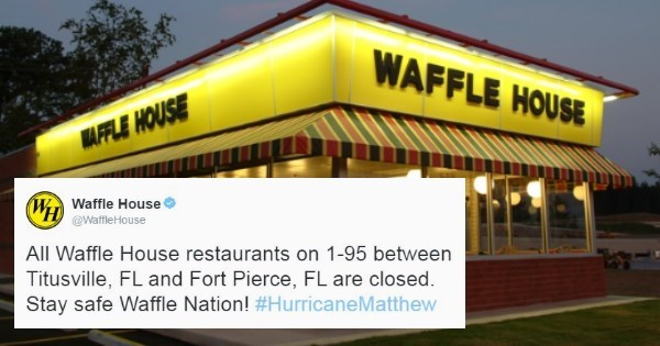 waffle house index hurricane matthew People in Florida Know Things Are Getting Rough When the Waffle Houses Start Closing