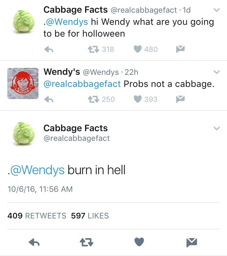 halloween trolling wendys cabbage - 8981734400