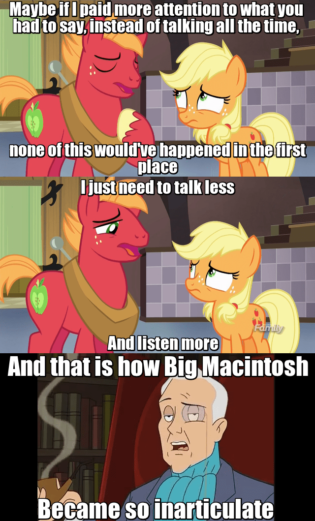 applejack where the apple lies Big Macintosh drawn together - 8981955072