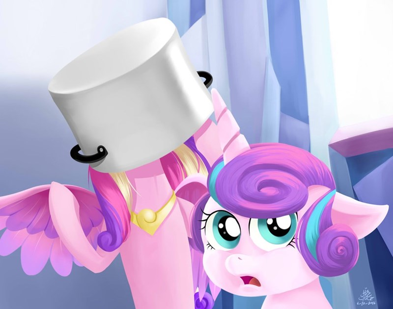 ponify princess cadence flurry heart awkward stock photo - 8981962240
