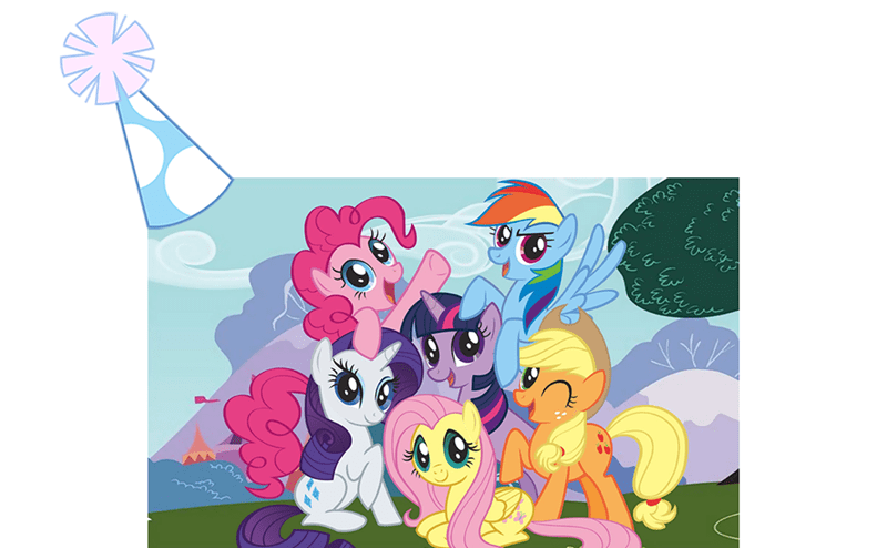 applejack,anniversary,fluttershy,pinkie pie,twilight sparkle,rarity,rainbow dash