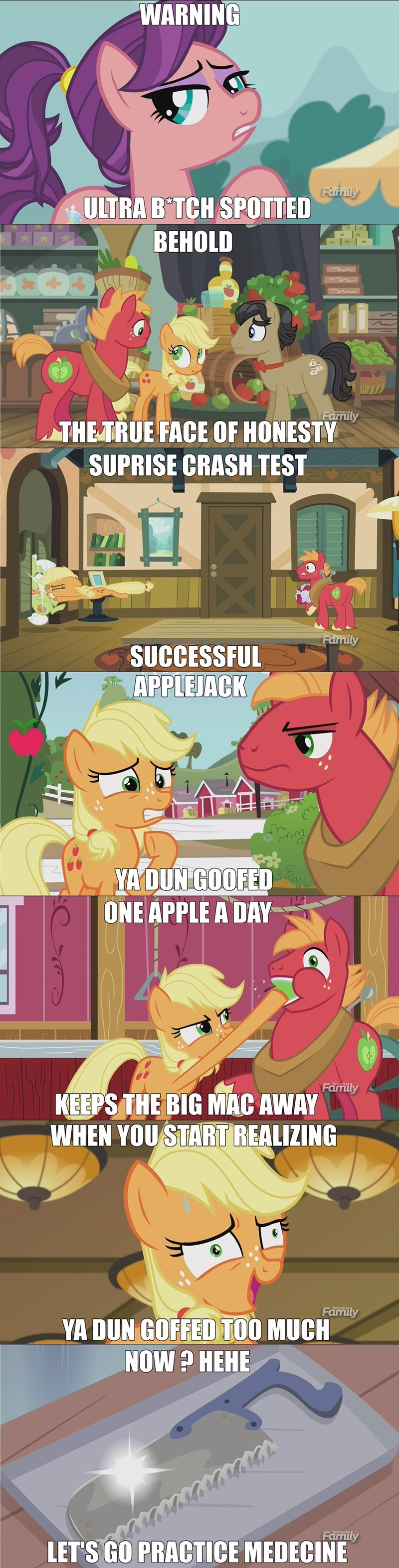 where the apple lies,filthy rich,Memes,Big Macintosh,spoiled rich,granny smith