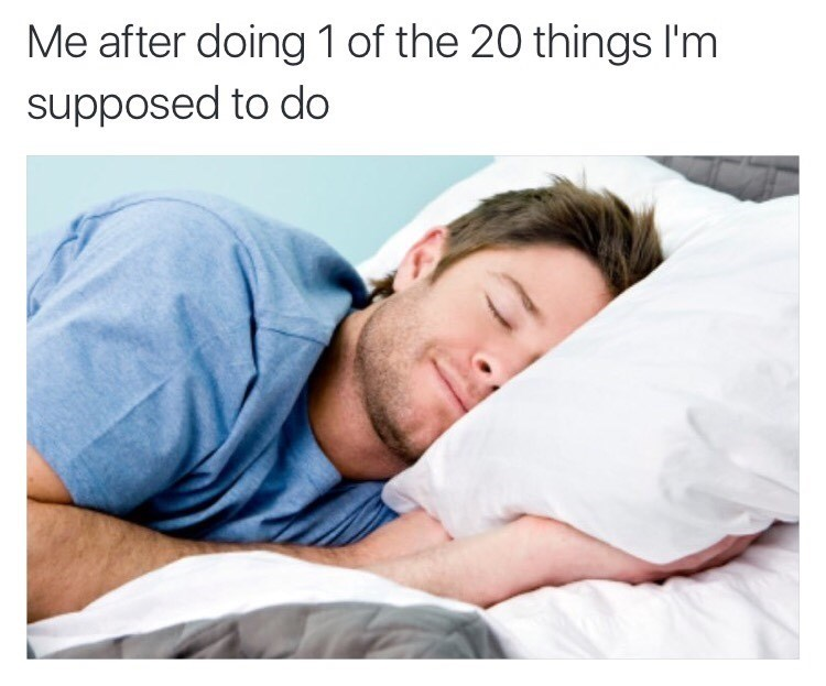 procrastination sleeping image - 8983020032