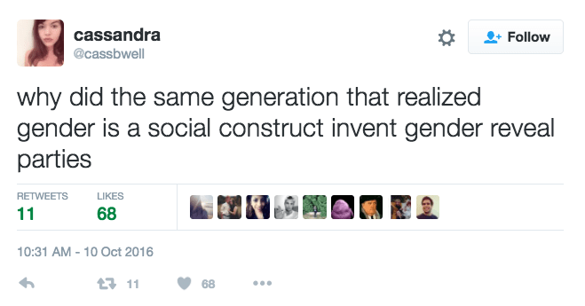 funny parenting tweet generation of gender issues