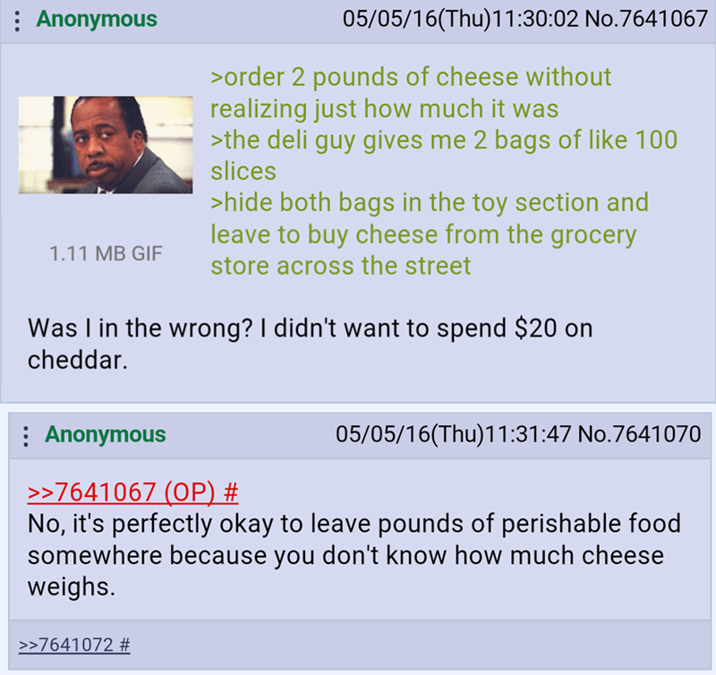 cheese 4chan wasteful image