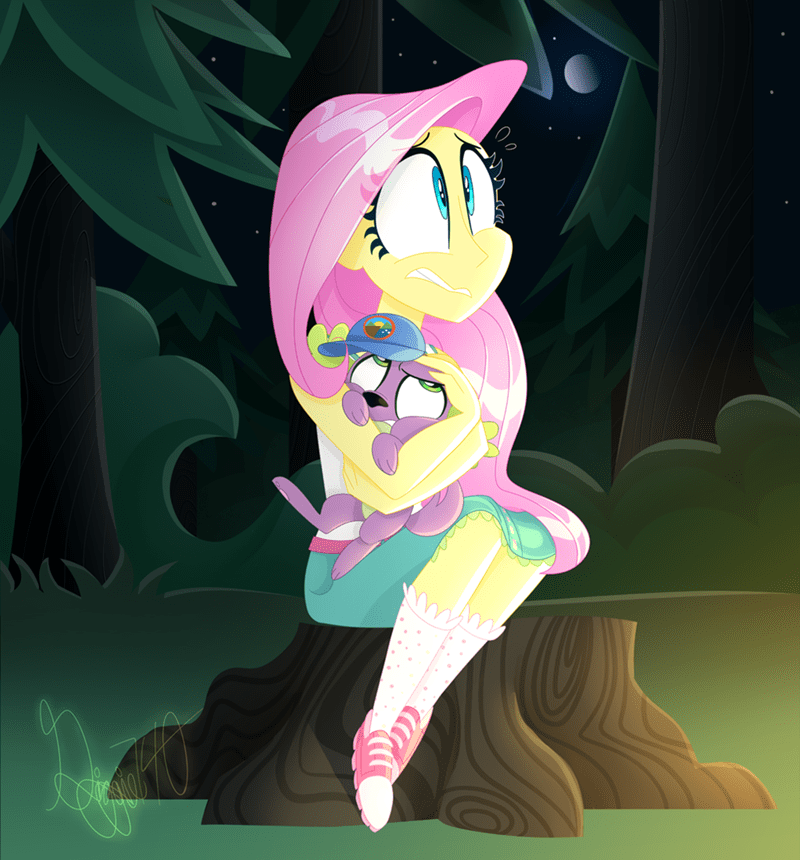 spike equestria girls legend of everfree fluttershy - 8983273984