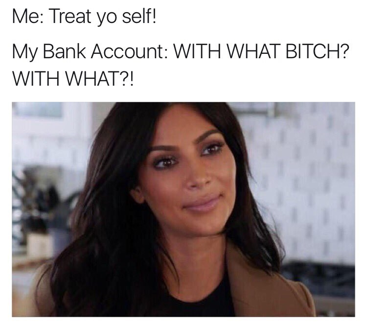 treat yo self,money,image