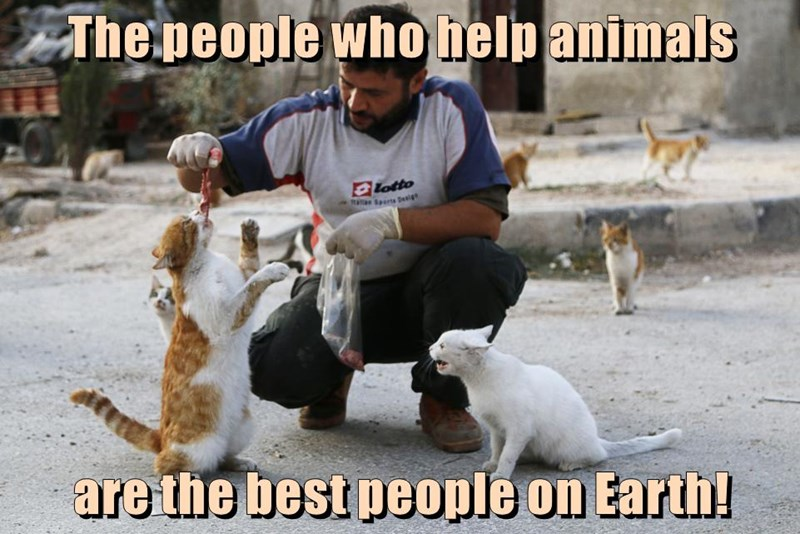 The people who help animals are the best people on Earth!