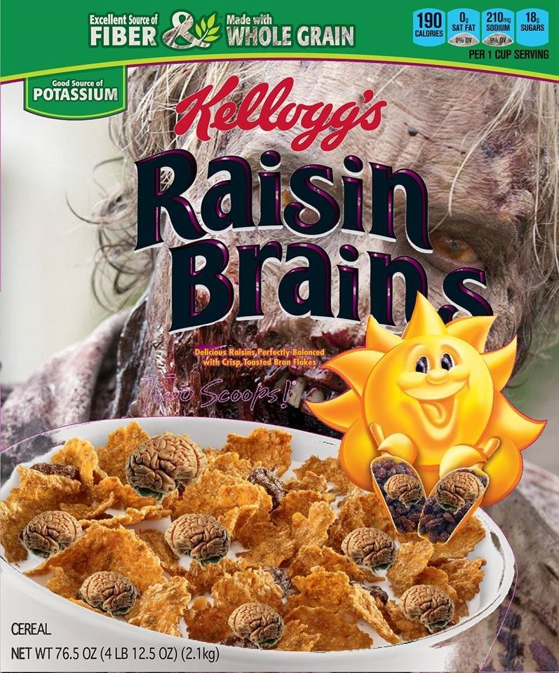 brains zombie cereal - 8983291648