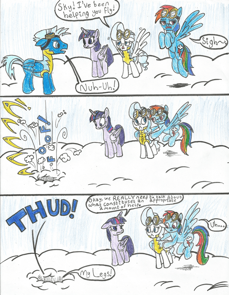 top bolt twilight sparkle sky stinger comic vapor trail rainbow dash - 8983415552