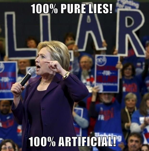 100% PURE LIES!                       100% ARTIFICIAL!