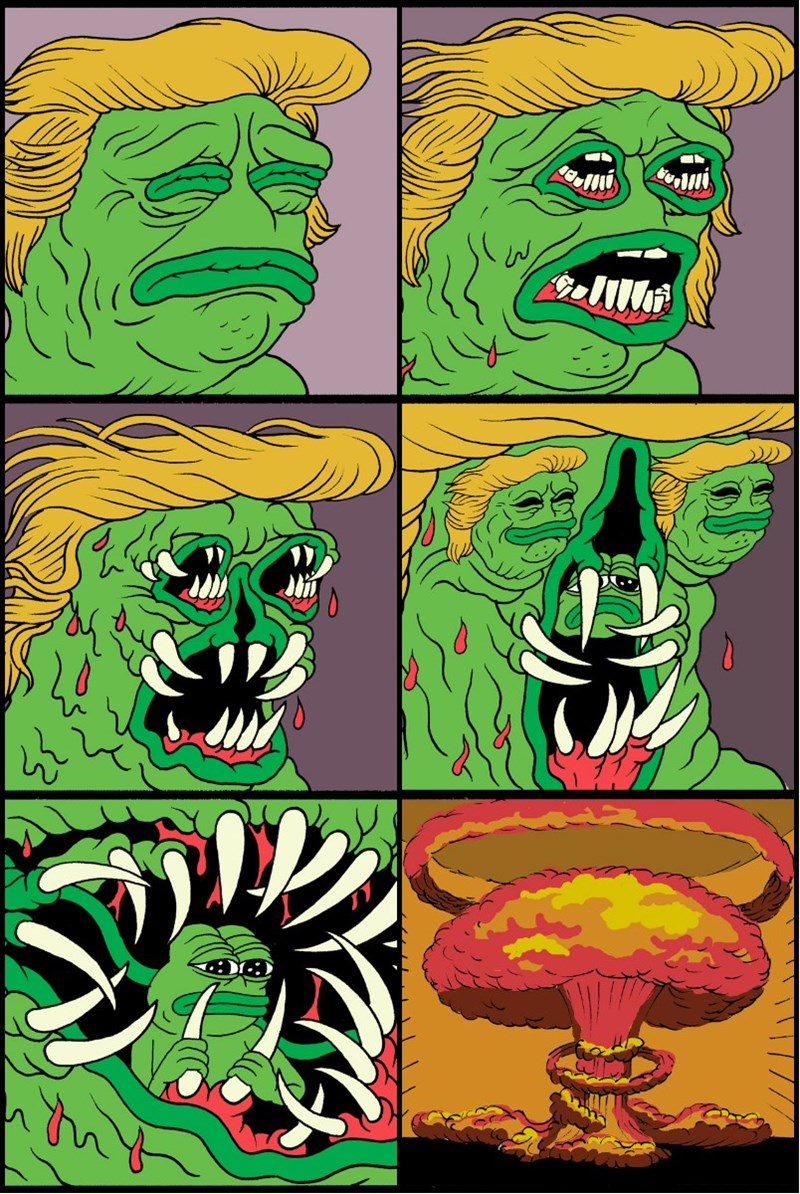 pepe,donald trump,politics,web comics