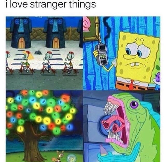 stranger things SpongeBob SquarePants image - 8983730432