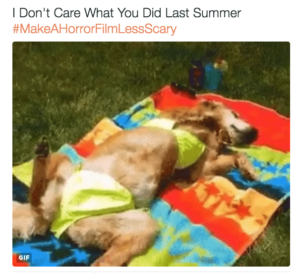 horror film - Dog - I Don't Care What You Did Last Summer #MakeAHorrorFilm LessScary GIF