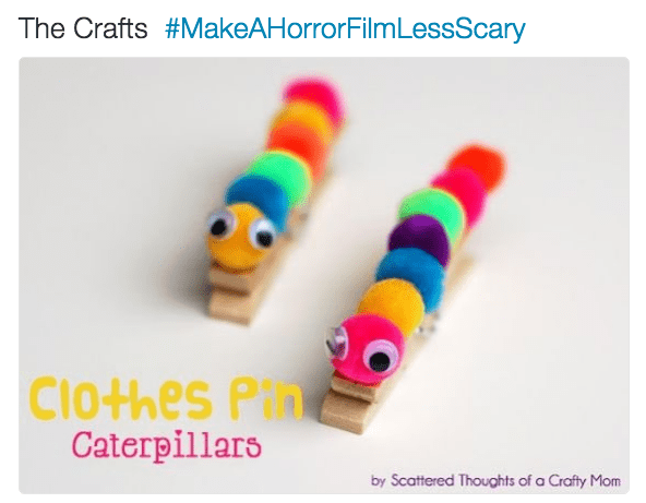 horror film - Caterpillar - The Crafts #MakeAHorrorFilmLessScary Clothes Pih Caterpillars by Scattered Thoughts of a Crafty Mom