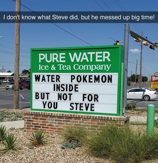 signs steve pokemon go - 8983954432