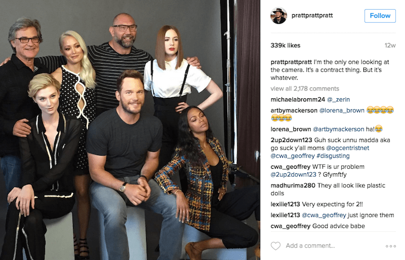 Social group - prattprattpratt Follow 12w 339k likes prattprattpratt I'm the only one looking at the camera. It's a contract thing. But it's whatever. view all 2,178 comments michaelabromm24 @_zerin artbymackerson @lorena_brown lorena brown @artbymackerson hal 2up2down123 Guh suck unnu madda aka go suck y'all moms Gogcentristnet @cwa_geoffrey #disgusting cwa geoffrey WTF is ur problem @2up2down123? Gfymftfy madhurima280 They all look like plastic dolls lexilie1213 Very expecting for 2!! lexiliie