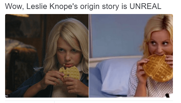parks and recreation stranger things fan theory image - 8984168448