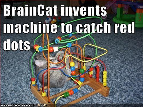 BrainCat invents machine to catch red dots
