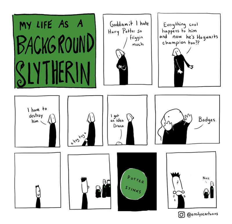 Harry Potter slytherin web comics