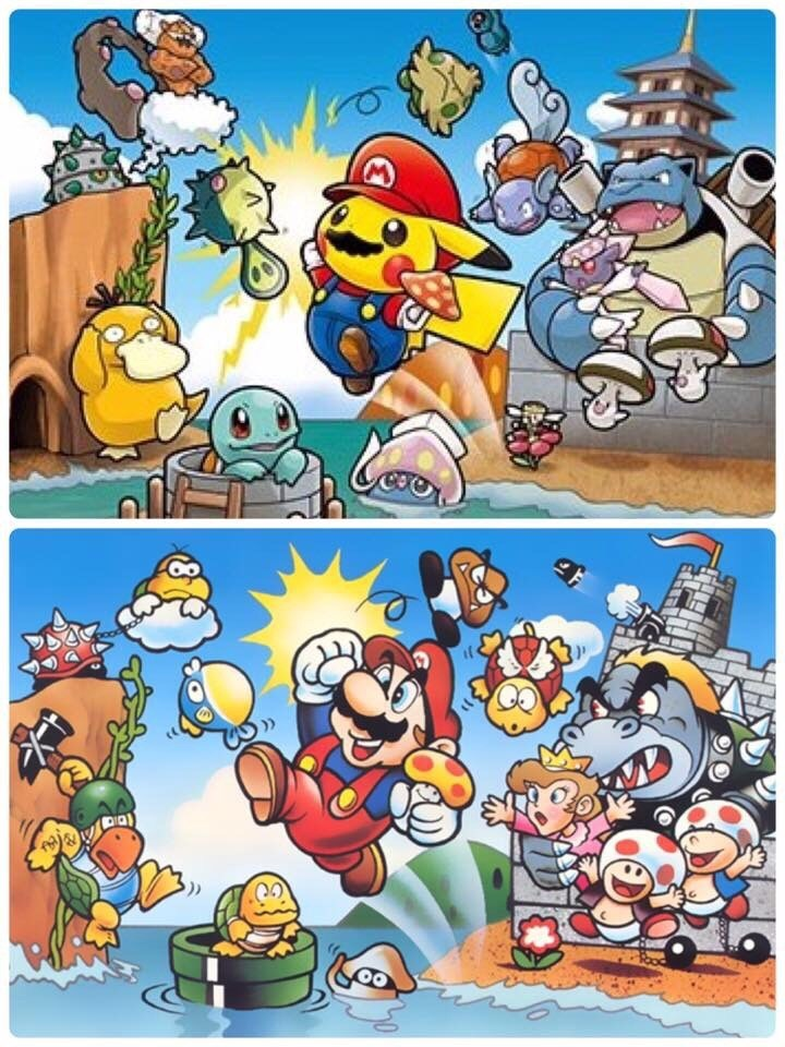 pokemon-meets-mario-in-crossover-fan-art