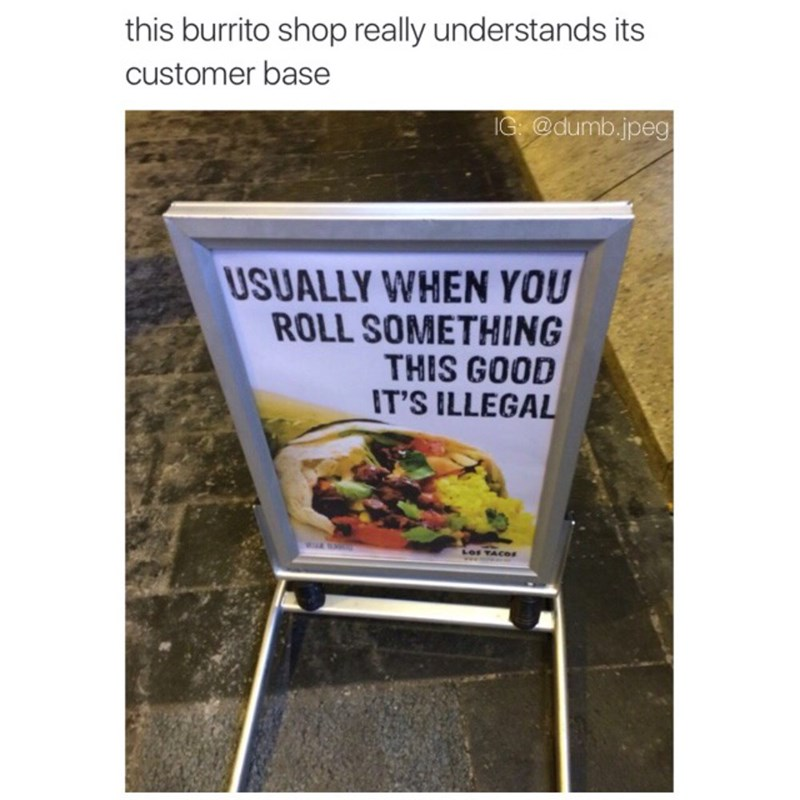 clever burrito signs - 8984852224