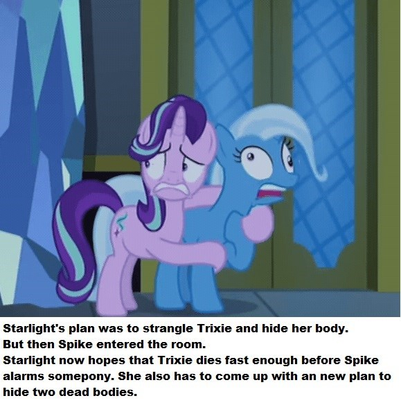 murder,spike,the great and powerful trixie,starlight glimmer,to where and back again