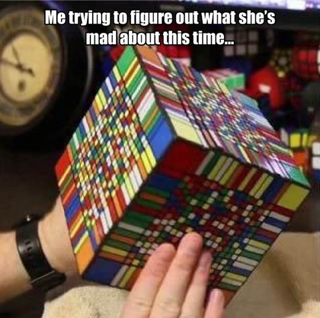 When She's a Rubik's Cube of Emotion