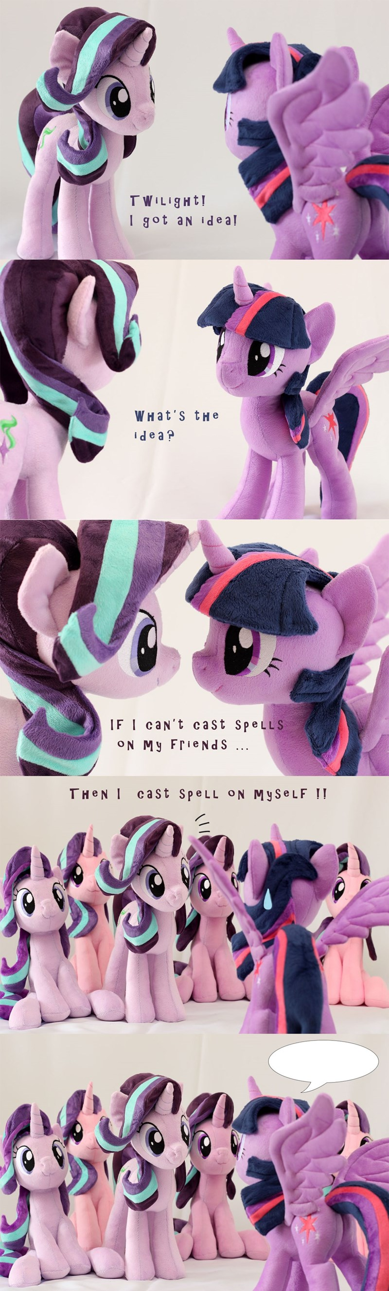 Plush,toys,starlight glimmer,twilight sparkle,caption contest,comic