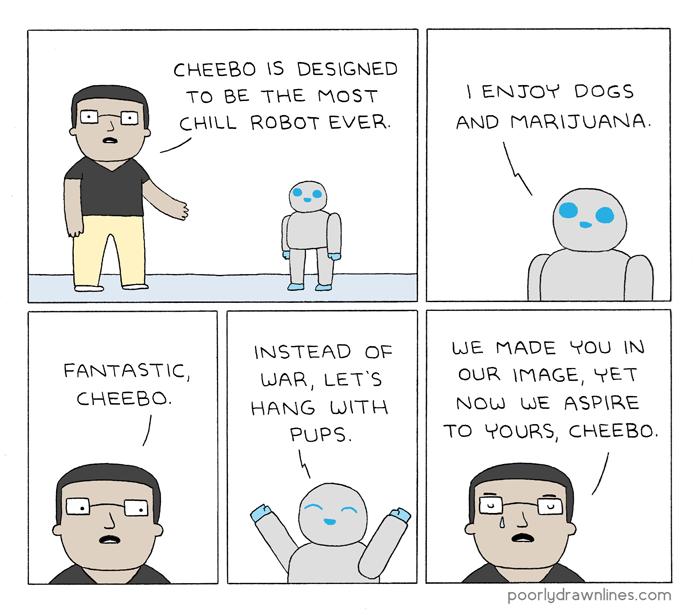 puppy,robots,web comics