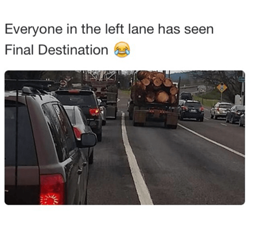 logs driving Final Destination image