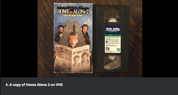Text - HOME ALONE2 LOST IN NEW YORK HOME AO NET BANDITS ESCAPE 4. A copy of Home Alone 2 on VHS