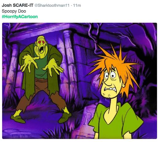 horror cartoon - Cartoon - Josh SCARE-IT @Sharktoothman11 11m . Spoopy Doo #HorrifyACartoon
